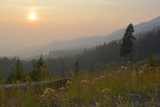 Washington  Wenatchee NF  Overlook with Smoky Sky from Wild Fires