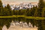 USA  Wyoming  Grand Teton National Park  Schwabacher Landing  Sunrise