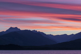 Washington  Seabeck Sunset over the Olympic Mountains and Hood Canal