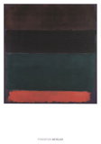 Red-Brown, Black, Green, Red Reproduction d'art par Mark Rothko