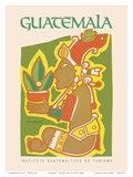 Guatemala - Yum Kax  Dios Del Maiz (Lord of the Forest) - Mayan God of Wild Plants and Animals