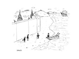Refugees are denied entry into America - Cartoon