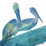 Watercolor Pelican Square II