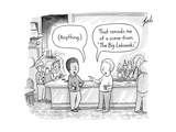 Two men at a bar discuss The Big Lebowski - New Yorker Cartoon
