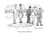 """The perp walks are killing us"" - New Yorker Cartoon"