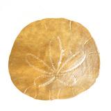 Gold Sand Dollar II (gold foil) Reproduction d'art par Jairo Rodriguez
