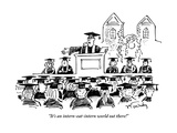 """""""It's an intern-eat-intern world out there!"""" - New Yorker Cartoon"""