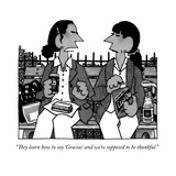 """""""They learn how to say 'Gracias' and we're supposed to be thankful"""" - New Yorker Cartoon"""