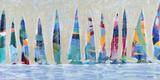 Dozen Colorful Boats Panel