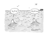 """Yo  Greg!"" ""Hey  Warren!"" - New Yorker Cartoon"