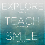 Explore  Teach  Smile (teal)