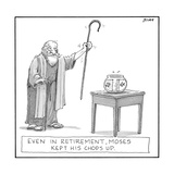 Even in retirement  Moses kept his 'chops' up - New Yorker Cartoon