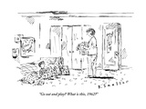 """""""Go out and play What is this  1962"""" - New Yorker Cartoon"""