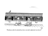 """""""Would you rather be attacked by a horse-size duck or fifty duck-size"""" - New Yorker Cartoon"""