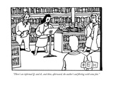 """There's an informal Q and A  and then  afterward  the author's sad flir"" - New Yorker Cartoon"