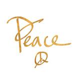 Peace (gold foil)