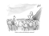 """Is there a section at the bottom for comments"" - New Yorker Cartoon"