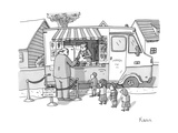 Executive cuts children in line for ice cream - New Yorker Cartoon