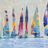 Dozen Colorful Boats Square II