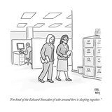 """""""I'm kind of the Edward Snowden of who around here is sleeping together"""" - New Yorker Cartoon"""