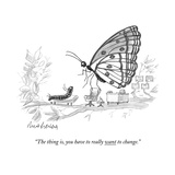 """The thing is  you have to really want to change"" - New Yorker Cartoon"