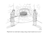 """""""People don't care what they're eating as long as they're the first ones t"""" - New Yorker Cartoon"""