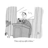 """""""I have only my selfie to blame"""" - New Yorker Cartoon"""