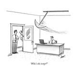 """Who's the temp"" - New Yorker Cartoon"