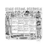High School Schedule - New Yorker Cartoon