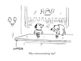 """Why so downward facing  dog"" - New Yorker Cartoon"