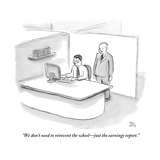 """""""We don't need to reinvent the wheeljust the earnings report"""" - New Yorker Cartoon"""