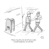 """""""I know I say this a lot  but if I were a robot I would totally have sex w"""" - New Yorker Cartoon"""