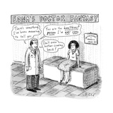 """Edna's Doctor Fantasy"" - New Yorker Cartoon"