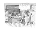 "'I'll take the case ' I said Or did I I fear I'm no longer able to diffe"" - New Yorker Cartoon"