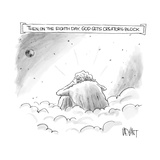 Then on the Eighth Day  God gets creator's block - New Yorker Cartoon