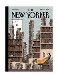 Fall Library - The New Yorker Cover, October 20, 2014 Giclee