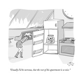 """""""Usually I'd be nervous  but the rest of his apartment is so nice"""" - New Yorker Cartoon"""