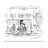 """""""I'm so overscheduled If it weren't for timeouts  I'd have no free time a"""" - New Yorker Cartoon"""