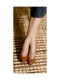 Brown Calfskin Opera Pumps by Mademoiselle