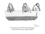 """Can I buy you a drink And then if things don't work out between us you c"" - New Yorker Cartoon"