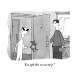 """""""You left this on our ship"""" - New Yorker Cartoon"""