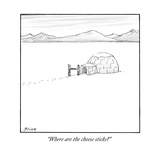 """Where are the cheese sticks"" - New Yorker Cartoon"
