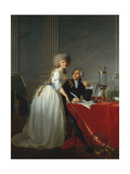 Portrait of French chemist Antoine Laurent Lavoisier with wife  1788