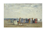 Swimmers on Trouville Beach  1869