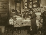 Mrs Mette and Her Children Making Flowers in a Dirty New York Tenement  1911