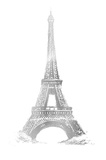 Silver Foil Eiffel Tower