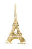 Gold Foil Eiffel Tower