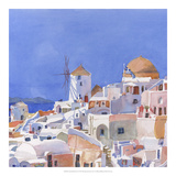 Santorini Watercolor I