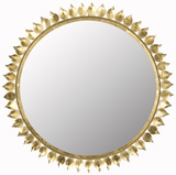 Leaf Crown Sunburst Mirror