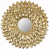 Royal Leaf Sunburst Mirror